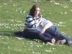 Voyeur captures Handjob in the park