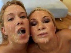 FACES OF CUM  : Amy Reid and Sasha Knox