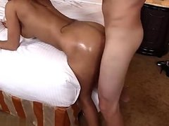 Hot amateur doggy style anal