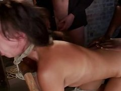 Hot amateur creampie eating