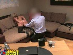 FakeAgentUK Pole dancer tries anal sex