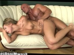 Blonde is so horny can't control what to do