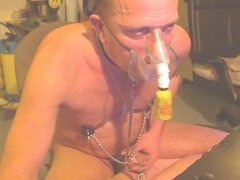 shaved poppers gay sniff per mask