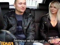 FakeTaxi Big tits blonde fucks on backseat