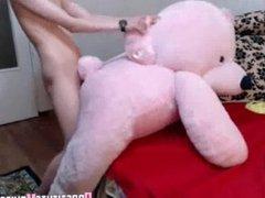 Girl Fucked Teddybear Again