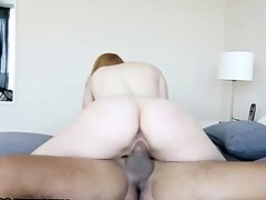 ShesNew Phat ass redhead Rose Red loves BBC