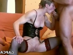 german mature gets assfucked