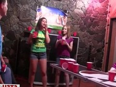 Beer Pong Party Leads To Flashing Tits