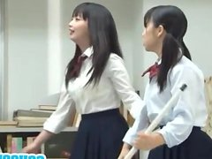 Japanese teen has nooky fingered