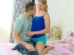 Sveta has her man over and after kissing