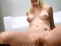 Blonde babe Zdenka casting shoot