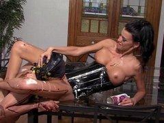 Mistress humiliates slave with food!