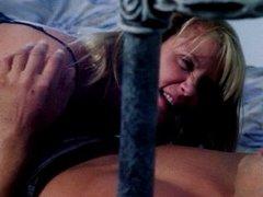 Ginger Lynn blond babe pounding in bed