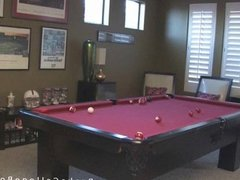 Billiard boy Kaydin blowjob Cody