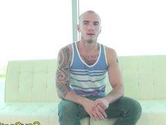 Tattooed Greek American hunk plowed at gaycas