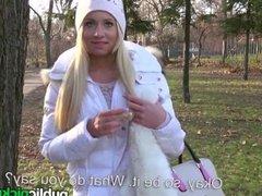 Mofos - Hot euro girl gets fucked outside