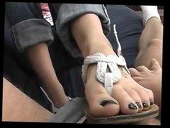 Nerdy Girl footjob