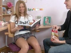 Schoolgirl Fucked finished in the mouth for