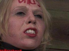 Petite blonde BDSM sub Sarah Jane Ceylon on s