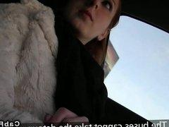 Fake taxi driver fucks redhead amateur