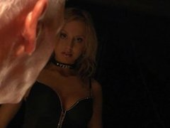 Kinky sexy blonde enjoys sex with oldman