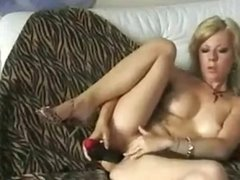 Blonde MILF Playing With Her Pussy