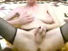 Skinny Busty Mature Blonde Toying
