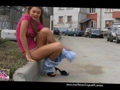 Flora drops her jeans in public
