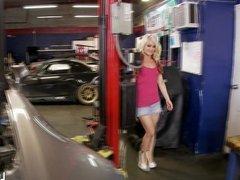 The mighty mechanic fucks sexy, horny babes