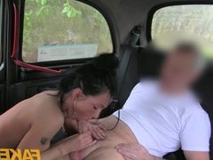 FakeTaxi - Moody dark haired british girl