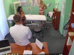 Doctor fucks huge tits patient