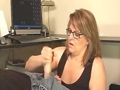 Mature Lady Takes Care Of A Young Dick
