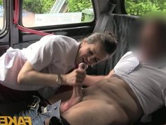 Faketaxi - Sexy brunette middle aged women