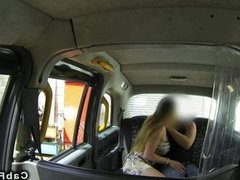 Huge tits Hungarian amateur in taxi