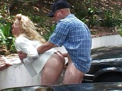 Blond MILF pussy business as usual