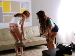 Cassidy and Kaylee in hot FFM threesome