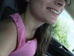 Tight teen girl Anita B fucked in public