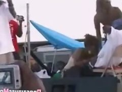 Ebony Party contest blowjob
