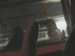 Public Masturbation / Дрочит в окно автобуса