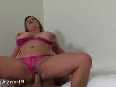 Huge tits bbw fucking on casting