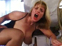 Mature cougar fucked hard in the ass