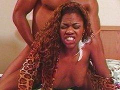 Smoking hot ebony vagina babe doing it