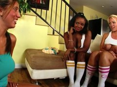 Hot chicks playing with a sex toy