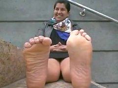Indian Girl Teasing Her Feet