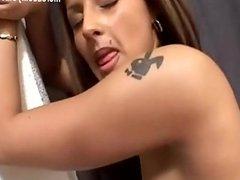 Anal with sexy latina riding huge dick