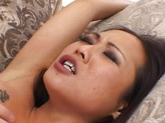 Asian pussy and ass fucked harsh