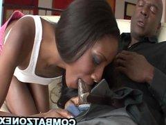 Ebony teen fucked by her stepdad