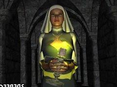 Sexy 3D nun gets fucked hard
