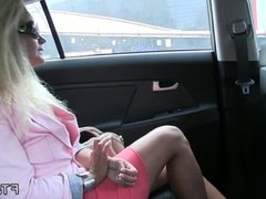 Perfect ass amateur fucks in fake taxi