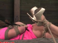 Frogtie hogtie hair bound sub spanked